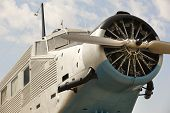 image of propeller plane  - Old fashioned plane with propeller detail - JPG