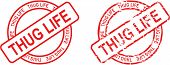 image of thug  - stamp sticke with word thug life in vector format very easy to edit - JPG
