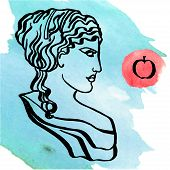 picture of goddess  - The ancient Greek goddess of love - JPG