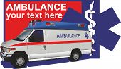 picture of ambulance  - the picture with the ambulance can be used for any medical topic - JPG
