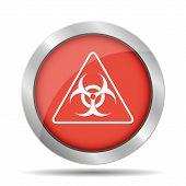 stock photo of biological hazard  - Vector biohazard sign or icon flat Illustration - JPG