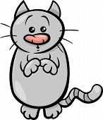 pic of begging  - Cartoon Illustration of Cute Cat or Kitten Begging for Food - JPG