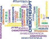 stock photo of chemotherapy  - Background concept wordcloud multilanguage international many language illustration of chemotherapy - JPG
