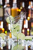 picture of mojito  - fresh mojito drink with liquid splash - JPG