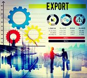 picture of export  - Export Merchandise Shipping Supply Marketing Concept - JPG