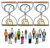 picture of sand dollar  - Time is Money Sand glass Investment Countdown Measure Concept - JPG