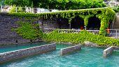 picture of pier a lake  - Pier of Thun Lake water Interlaken Switzerland - JPG