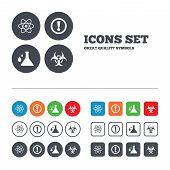 foto of biohazard symbol  - Attention and biohazard icons - JPG