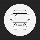 picture of bus driver  - Bus Line Icon - JPG