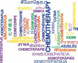 picture of chemotherapy  - Background concept wordcloud multilanguage international many language illustration of chemotherapy - JPG