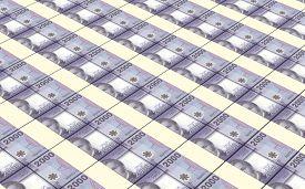 picture of pesos  - Chilean pesos bills stacks background - JPG