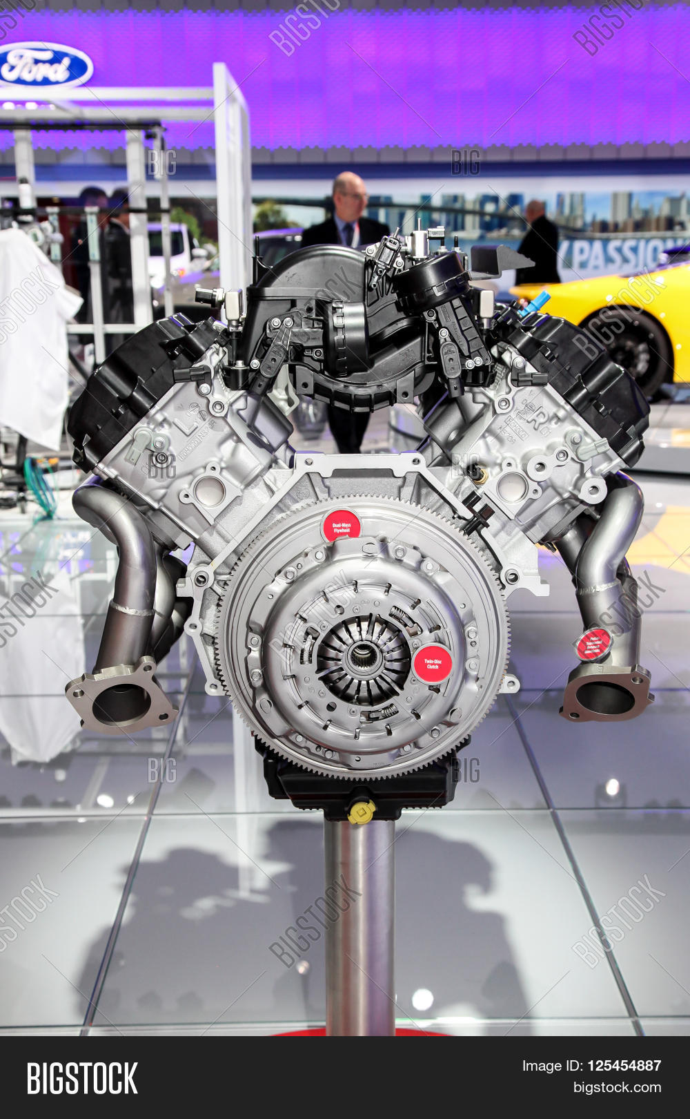 NEW YORK  MARCH 23 A Ford engine GT 350 52L V8 shown at the