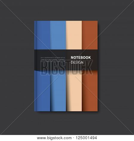 vector graphic page for notebook scrapbook or book