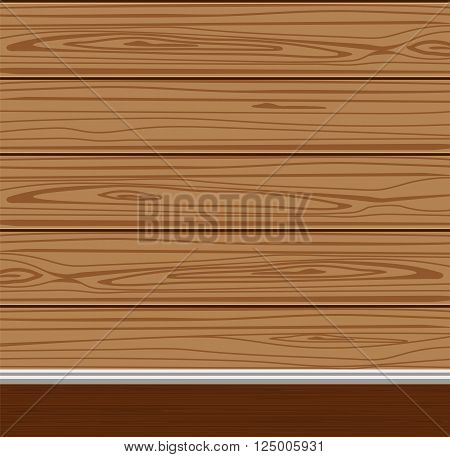 wooden floor and walls made of boards vector