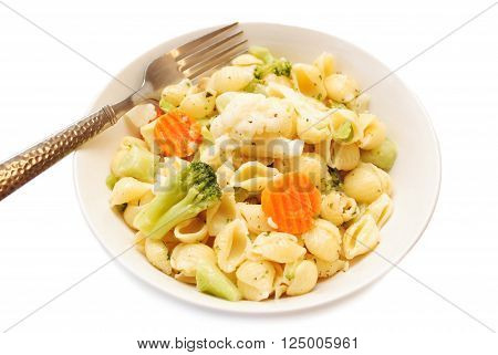 A Vegetarian Dinner of Pasta & Vegetables