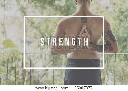 Strength Anxiety Power Stress Strong Success Concept