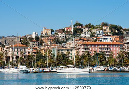 View of  the city and the harbor of La Spezia - Liguria, Italy, Europe