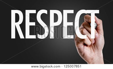 Hand writing the text: Respect