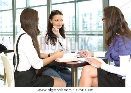 girl thinking on examinination