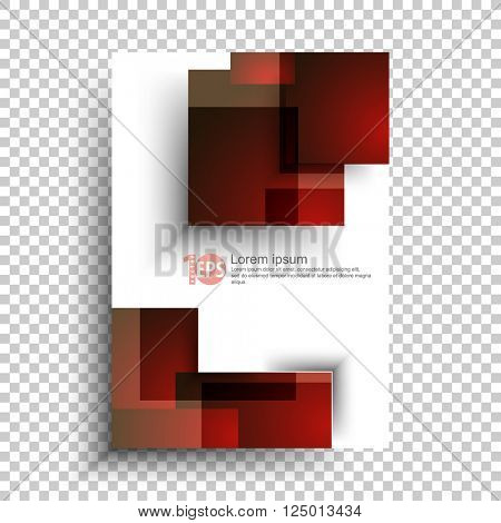 abstract overlapping geometric squares material business background design. eps10 vector