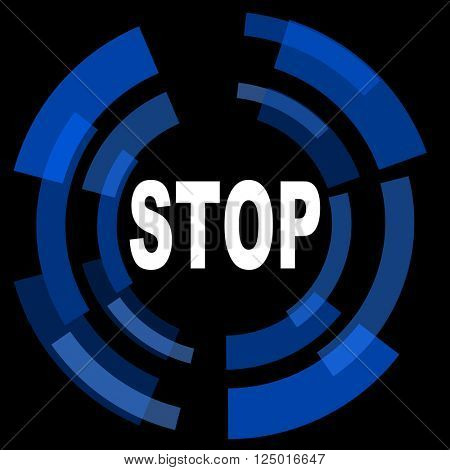 stop black background simple web icon
