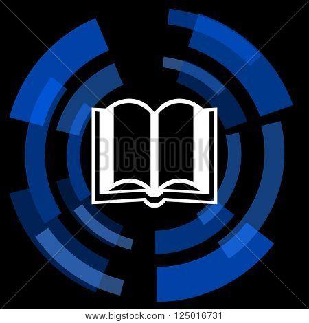 book black background simple web icon