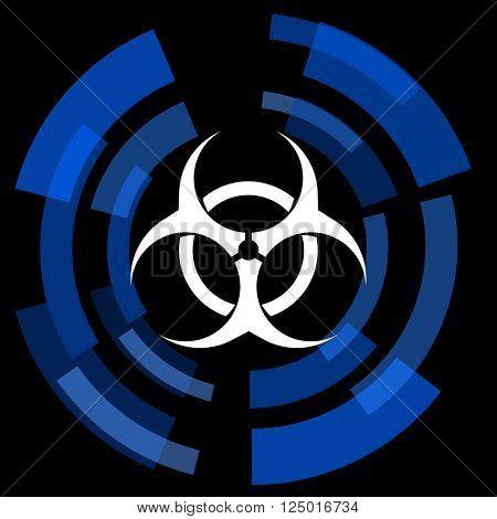 biohazard black background simple web icon