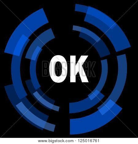 ok black background simple web icon
