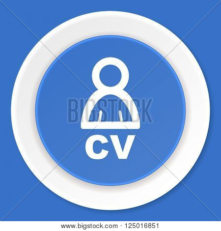 cv blue flat design modern web icon