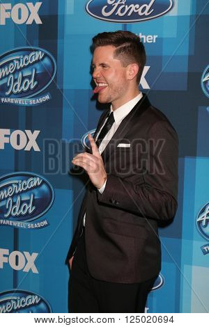 LOS ANGELES - APR 7:  Trent Harmon at the American Idol FINALE Arrivals at the Dolby Theater on April 7, 2016 in Los Angeles, CA
