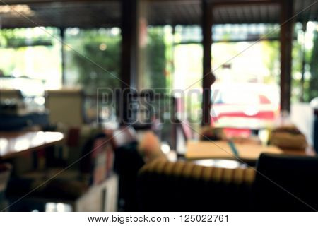 blurred background cafe coffee shop with people de-focused