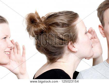 A girl whispering