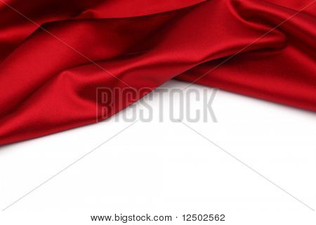 red satin isolated