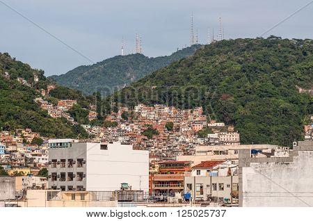 Rio de Janeiro, Brazil - December 21, 2012: The favelas of Rio de Janeiro, Brazil.
