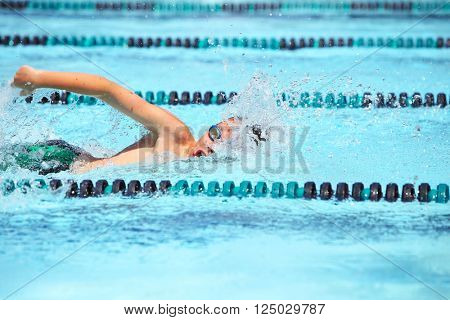 Freestyle swimmer