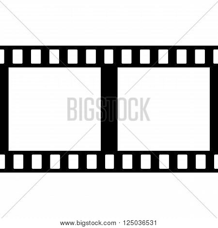 Vector Film Strip Illustration on White Background. Abstract Film Strip design template. Film Strip Seamless Pattern.