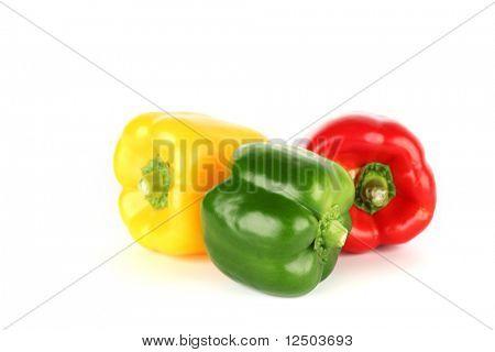 color paprica aislado en blanco