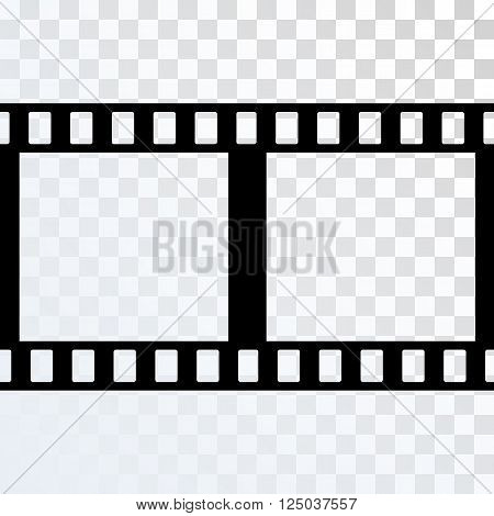 Vector Film Strip Illustration on Transparent Background. Abstract Film Strip design template. Film Strip Pattern.