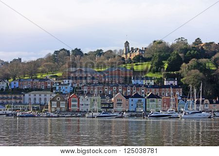 yachts on the river Dart in Dartmouth, Devon