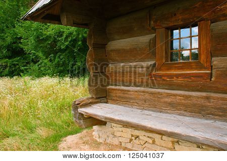 The angle of the rural house the early eighteenth century Pyrohiv Ukraine