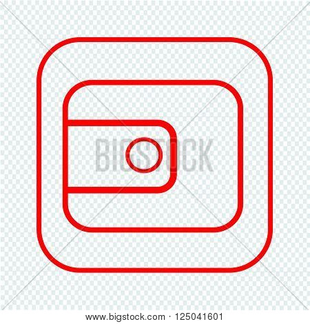 an images of Thin Line Purse Icon Illustration design