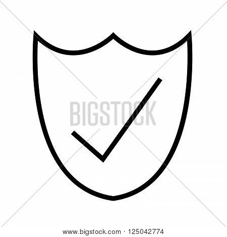 an images of Thin Line Secure Icon Illustration design
