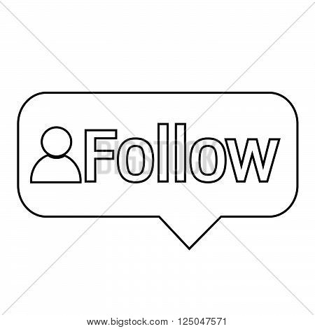 an images of follower icon Illustration design