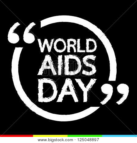 an images of WORLD AIDS DAY Lettering Illustration design