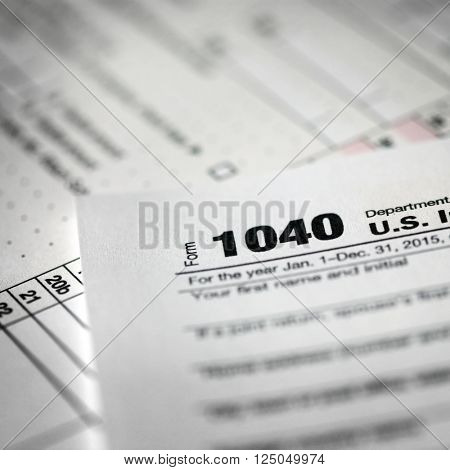 Tax forms background