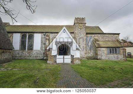 Entrance to St Augustines Church Brookland Romney Marsh Kent