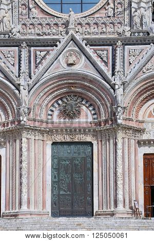 Siena Cathedral (Details) is a medieval - Italy