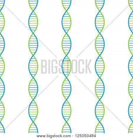 DNA seamless vector background 2d illustration eps 8