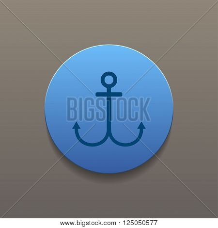 Anchor symbol. Vector EPS 10. Flat design style