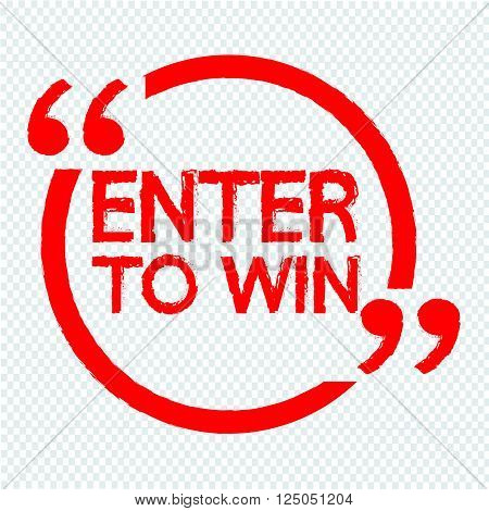 an images of ENTER TO WIN Illustration Design